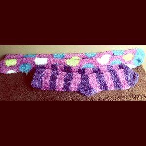 2 Pairs of Fuzzy, Long Socks!